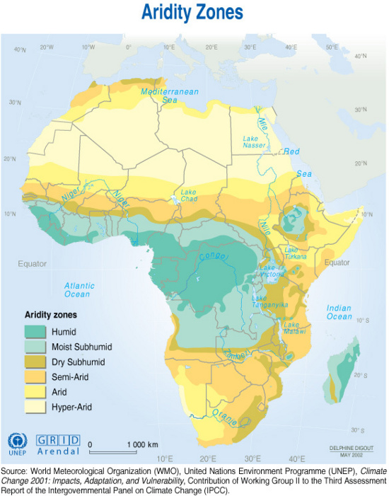 a significant part of the african continent is dry the climate trend is longer periods of drought shorter periods of heavy