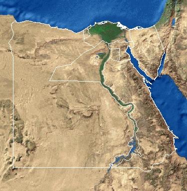 Basicmaps - Vegetation map of egypt