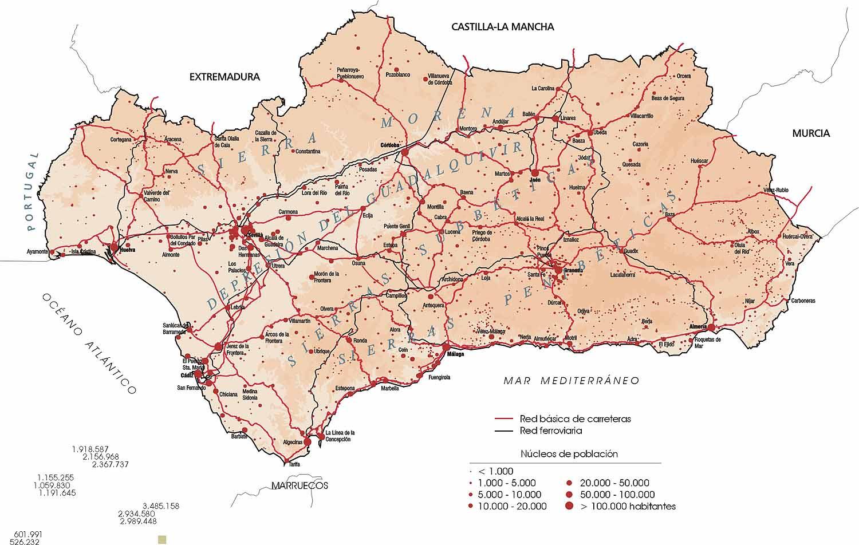 Zoom Junta De Andalucia 2002 Carreteras Y Red Ferroviaria